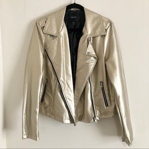 NWOT Gold Faux Leather Jacket